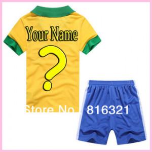 Brazil Football Cup 2013 Home Kids Shorts Shirts soccer jersey 2014 ...