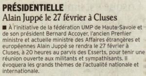 Réunion publique à CLUSES, en présence d'Alain JUPPE