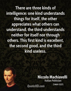 Niccolo Machiavelli Intelligence Quotes