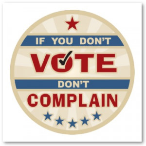 "... to Washington by good people who don't vote.""–William E. Simon"