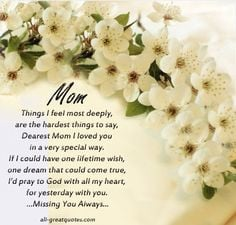 Mother Quotes Images | 121024x977jpg. Sympathy Card For Loss Of Mother ...