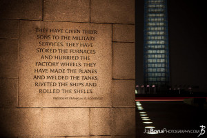 World War II Memorial (FDR Quote) With Washington Monument
