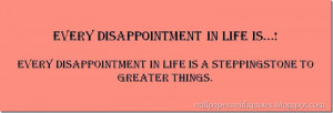 Every Disappointment In Life Is… |Inspirational Quote About ...