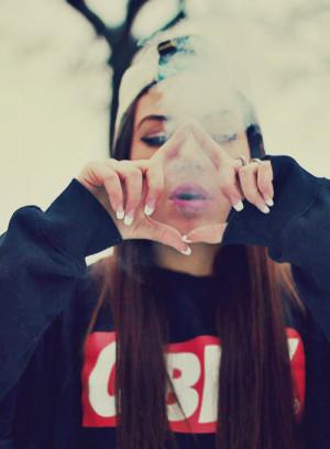 swag girl dope smoke Obey