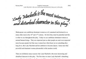 Essay on macbeth