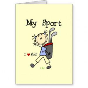 Golf My Sport Stationery Note Card
