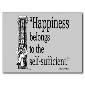 Aristotle Quote Happiness Quotes Sayings Post Card