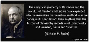 The analytical geometry of Descartes and the calculus of Newton and ...