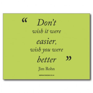 Motivational Jim Rohn Quote' Postcard