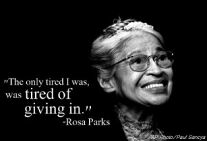 Rosa Parks smiles during a ceremony where she received the ...
