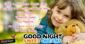 Sweet Dreams Good Night Quotes Wallpaper