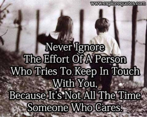 Never ignore The effort of a person…
