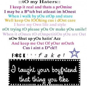 To My Haters Picture