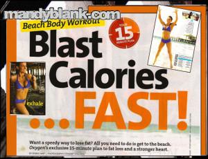 Mandy Blank Oxygen Magazine Beach Workout Issue picture