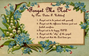 Forget not....printables