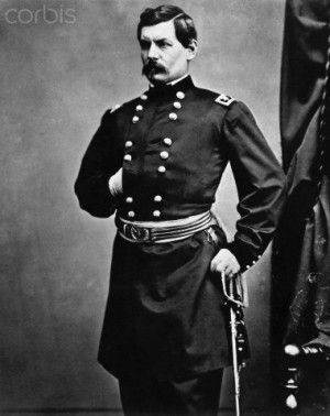 George Mcclellan Standing In Uniform
