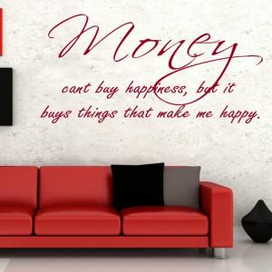 Money quote wall sticker