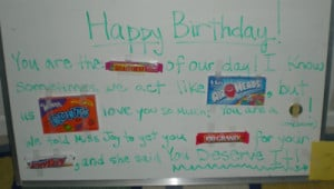 Write Your Message Using As MANY Candy Bars As Possible!