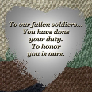 To our fallen soldiers... wisconsin-soldiers-support-news