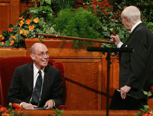 laughing. This is why: After President Hinckley finished, Elder ...