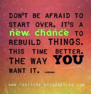 New beginnings are great!