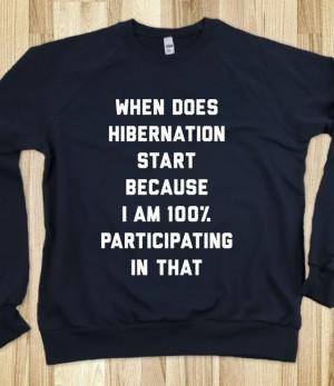 Hibernation - Lazy Days - Skreened T-shirts, Organic Shirts, Hoodies ...