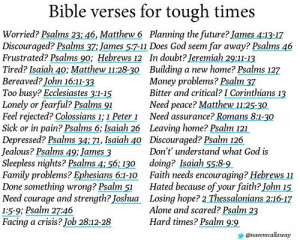 Bible Verses for Tough Times