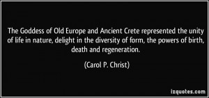 Goddess of Old Europe and Ancient Crete represented the unity of life ...