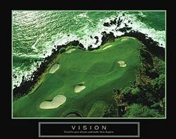 Vision Golf Poster 28x22