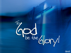 Christian Quote: To God be the Glory! Papel de Parede Imagem