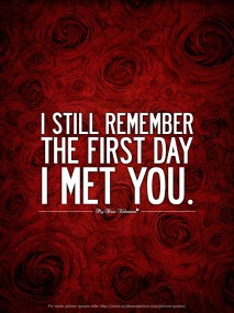The First Time I Met You Quotes. QuotesGramI Still Remember The First Day I Met You