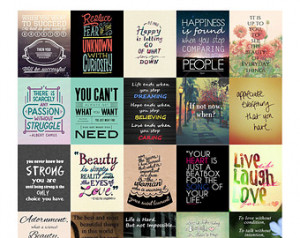 Inspirational Quotes II Stickers fo r Erin Condren Life Planner PDF ...