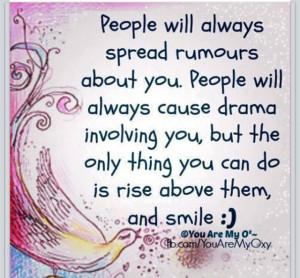 spreading rumors