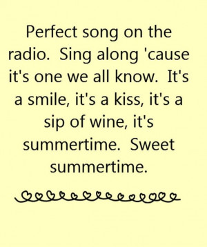 Kenny Chesney - Summertime - song lyrics, song quotes, songs, music ...