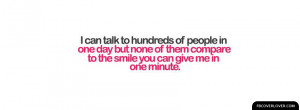 Smile In One Minute Facebook Covers More Quotes Covers for Timeline