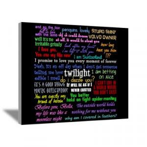 CafePress > Wall Art > Canvas Art > Twilight Quotes Canvas Art