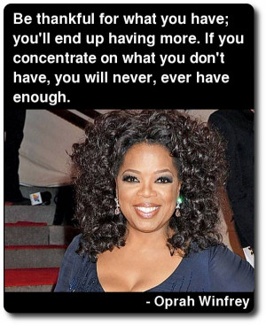 Oprah Winfrey Quote On Gratitude