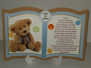 Personalised Grandson Son Nephew 1st Birthday Card