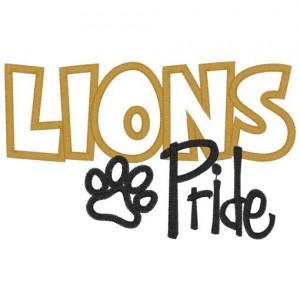 Sayings (3892) Lions Pride Applique 5x7