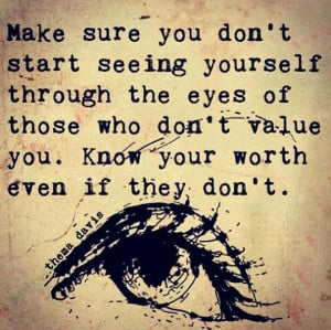 Know your worth.