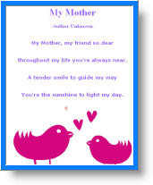 Mothers Day Poem Kindergarten