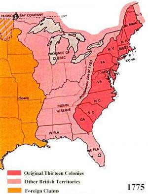 Territorial Map 1775