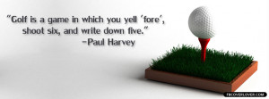 Golf Quote Facebook Timeline Profile Covers