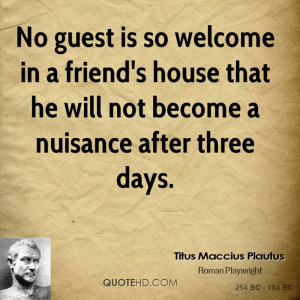 House Guest Quotes