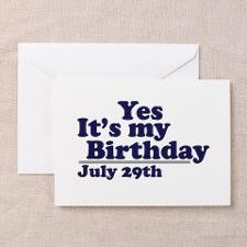 July 29 Birthday Greeting Cards (Pk of 10) for