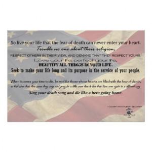 Act of Valour Poem - Poem by Tecumseh