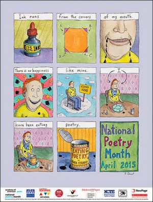 Roz Chast + Mark Strand + National Poetry Month = I Want That Poster