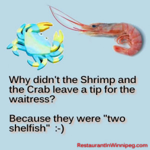 Why Didn The Shrimp And Crab Leave Tip For Waitress