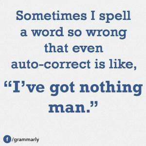 Stumping spell check...win!