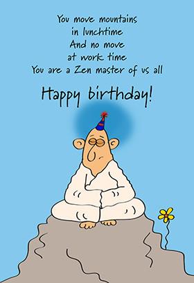 Printable Birthday Card - Zen Birthday
